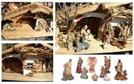 Modellhaus Holzhaus 30cm Krippe incl. 11 Krippenfiguren - 1