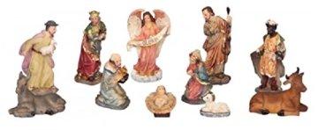 Modellhaus Holzhaus 30cm Krippe incl. 11 Krippenfiguren - 3