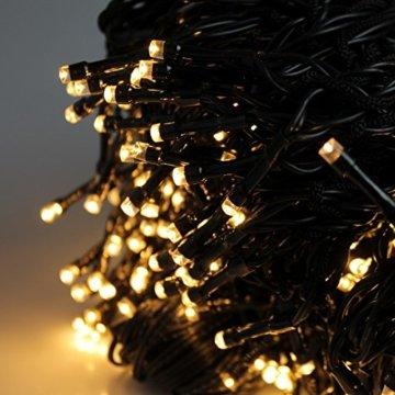 Multistore 2002 Fahnenmast Lichterkette - 360 LED`s, 10 Stränge a 8m, warmweisses Licht - Fahnenstangen Beleuchtung Weihnachtsdekoration Weihnachtsbaumbeleuchtung - 2