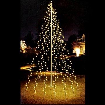 Multistore 2002 Fahnenmast Lichterkette - 360 LED`s, 10 Stränge a 8m, warmweisses Licht - Fahnenstangen Beleuchtung Weihnachtsdekoration Weihnachtsbaumbeleuchtung - 1