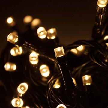 Multistore 2002 LED Lichterkette mit 320 LEDs Warmweiß | Beleuchtung für Innen & Außen | Garten Dekoleuchte Weihnachtsdekoration (Gesamtlänge: ca. 27 m) - 3