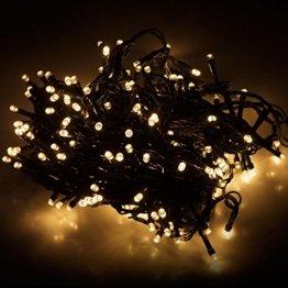 Multistore 2002 LED Lichterkette mit 320 LEDs Warmweiß   Beleuchtung für Innen & Außen   Garten Dekoleuchte Weihnachtsdekoration (Gesamtlänge: ca. 27 m) - 1