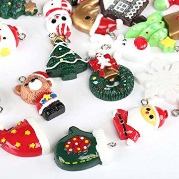 Naler 24-teilig Weihnachtsanhänger Christbaum Deko Weihnachtsbaumschmuck für Adventkalender - 3