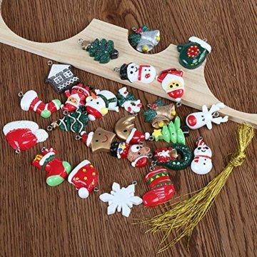 Naler 24-teilig Weihnachtsanhänger Christbaum Deko Weihnachtsbaumschmuck für Adventkalender - 4