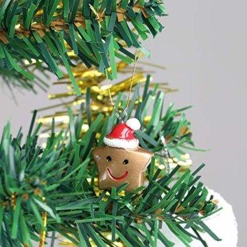 Naler 24-teilig Weihnachtsanhänger Christbaum Deko Weihnachtsbaumschmuck für Adventkalender - 6