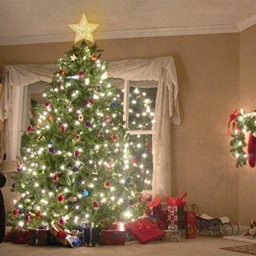 NICEXMAS 9.8 Zoll Goldener Stern-Baum-Deckel mit LED-Lichtern für Weihnachtsbaum-Dekoration - 5
