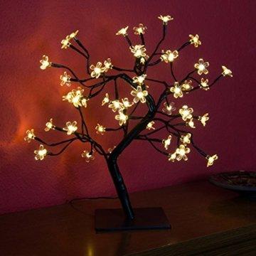 Nipach GmbH 48 LED Baum mit Blüten Blütenbaum Lichterbaum warm weiß 45 cm hoch Trafo IP20 Timer Weihnachtsbeleuchtung Weihnachtsdeko Lichterdeko Xmas - 3