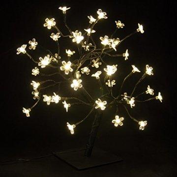 Nipach GmbH 48 LED Baum mit Blüten Blütenbaum Lichterbaum warm weiß 45 cm hoch Trafo IP20 Timer Weihnachtsbeleuchtung Weihnachtsdeko Lichterdeko Xmas - 6