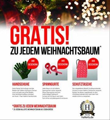 Original Hallerts® Spritzguss Weihnachtsbaum Bellister 120 cm Nobilis Edeltanne - Christbaum zu 100% in Spritzguss PlasTip® Qualität - schwer entflammbar nach B1 Norm, Material TÜV und SGS geprüft - Premium Spritzgusstanne - 5