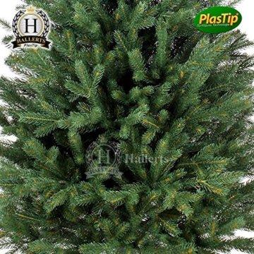Original Hallerts® Spritzguss Weihnachtsbaum Bellister 150 cm als Nobilis Edeltanne - Christbaum zu 100% in Spritzguss PlasTip® Qualität - schwer entflammbar nach B1 Norm, Material TÜV und SGS geprüft - Premium Spritzgusstanne - 3