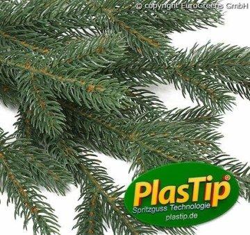 Original Hallerts® Spritzguss Weihnachtsbaum Oxburgh 150 cm als Nobilis Edeltanne - Christbaum zu 100% in Spritzguss PlasTip® Qualität - schwer entflammbar nach B1 Norm, Material TÜV und SGS geprüft - Premium Spritzgusstanne - 2