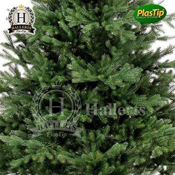 Original Hallerts® Spritzguss Weihnachtsbaum Oxburgh 150 cm als Nobilis Edeltanne - Christbaum zu 100% in Spritzguss PlasTip® Qualität - schwer entflammbar nach B1 Norm, Material TÜV und SGS geprüft - Premium Spritzgusstanne - 3