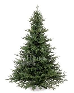 Original Hallerts® Spritzguss Weihnachtsbaum Oxburgh 150 cm als Nobilis Edeltanne - Christbaum zu 100% in Spritzguss PlasTip® Qualität - schwer entflammbar nach B1 Norm, Material TÜV und SGS geprüft - Premium Spritzgusstanne - 1