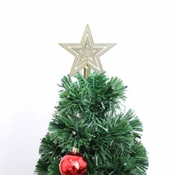 OUNONA Christbaumspitze Weihnachtsbaumschmuck Stern Partei Dekoration (Gold) - 2