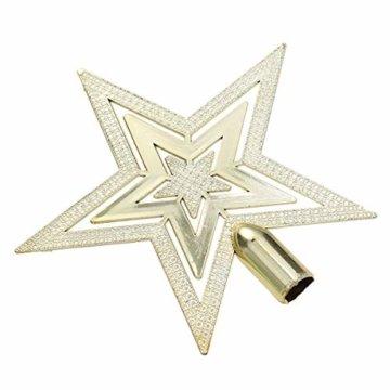 OUNONA Christbaumspitze Weihnachtsbaumschmuck Stern Partei Dekoration (Gold) - 6