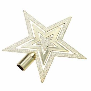 OUNONA Christbaumspitze Weihnachtsbaumschmuck Stern Partei Dekoration (Gold) - 8