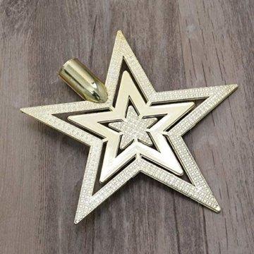 OUNONA Christbaumspitze Weihnachtsbaumschmuck Stern Partei Dekoration (Gold) - 9