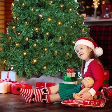OUSFOT Weihnachtsbaum Künstlich 182cm (Ø ca. 110 cm) 800 Äste schwer entflammbarer Tannenbaum mit Schnellaufbau Klappsysem Material PVC inkl. Metallständer - 2