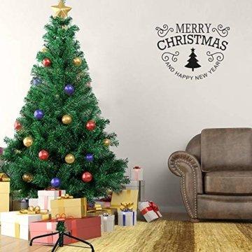 OZAVO Weihnachtsbaum künstlicher, Tannenbaum 120 cm, Christbaum in grün, inkl. Metallständer, schwer entflammbar - 4