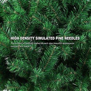 OZAVO Weihnachtsbaum künstlicher, Tannenbaum 120 cm, Christbaum in grün, inkl. Metallständer, schwer entflammbar - 5