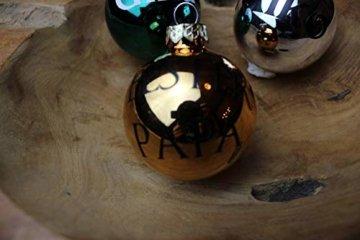 Personalisierte Christbaumkugeln Petrol, Christbaumschmuck, Weihnachtsbaumkugel, Weihnachtsbaumschmuck, Tannenbaumkugel, Tannenbaumschmuck, Christbaumkugeln Farbe Petrol - 7