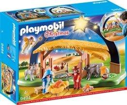 """PLAYMOBIL Christmas 9494 Lichterbogen """"Weihnachtsgkrippe"""" mit ausklappbaren Standfüßen, Ab 4 Jahren - 1"""
