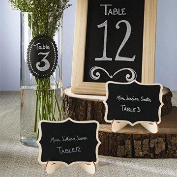 Pulluo 20pcs Mini Tafeln Set Tischkarten Hochzeit Tischschilder Kreidetafel mit Ständer Platzkarten Namen Büffet Schilder für Hochzeit Geburtstag Deko Party Tischdeko - 6