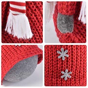 RANSENERS® Handgemachte Stehaufmännchen Schneemann Wichtel Santa Dolls süße Weihnachts Deko für Home Schaufenster Kinder Geburtstag Weihnachten Ostern - 2