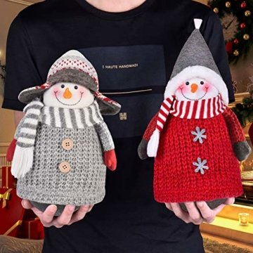 RANSENERS® Handgemachte Stehaufmännchen Schneemann Wichtel Santa Dolls süße Weihnachts Deko für Home Schaufenster Kinder Geburtstag Weihnachten Ostern - 3