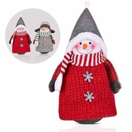 RANSENERS® Handgemachte Stehaufmännchen Schneemann Wichtel Santa Dolls süße Weihnachts Deko für Home Schaufenster Kinder Geburtstag Weihnachten Ostern - 1