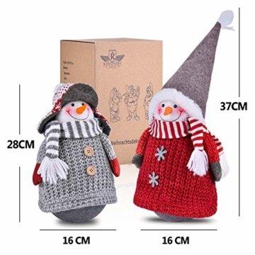 RANSENERS® Handgemachte Stehaufmännchen Schneemann Wichtel Santa Dolls süße Weihnachts Deko für Home Schaufenster Kinder Geburtstag Weihnachten Ostern - 4