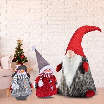 RANSENERS® Handgemachte Stehaufmännchen Schneemann Wichtel Santa Dolls süße Weihnachts Deko für Home Schaufenster Kinder Geburtstag Weihnachten Ostern - 5