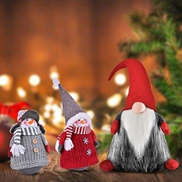 RANSENERS® Handgemachte Stehaufmännchen Schneemann Wichtel Santa Dolls süße Weihnachts Deko für Home Schaufenster Kinder Geburtstag Weihnachten Ostern - 6