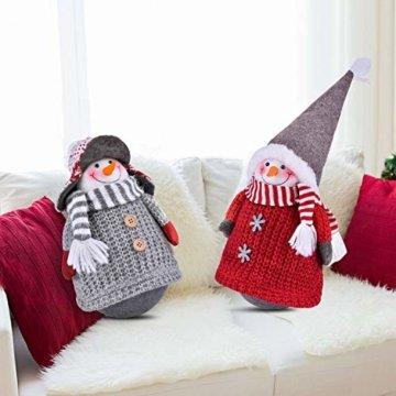 RANSENERS® Handgemachte Stehaufmännchen Schneemann Wichtel Santa Dolls süße Weihnachts Deko für Home Schaufenster Kinder Geburtstag Weihnachten Ostern - 7