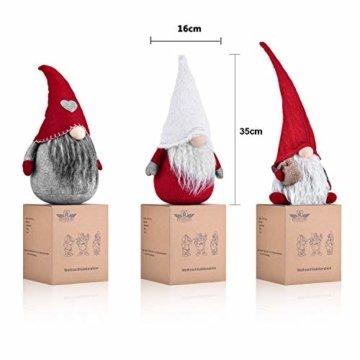 RANSENERS Handgemachte Wichtel Santa Dolls süße Weihnachten Tomte Nisse Figur aus Weihnachtsfigur Dwarf schöneren Weihnachts Deko für Home Schaufenster Kinder Geburtstag Weihnachten. - 2