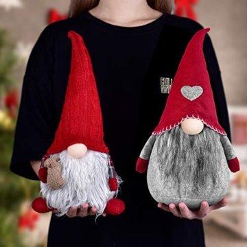 RANSENERS Handgemachte Wichtel Santa Dolls süße Weihnachten Tomte Nisse Figur aus Weihnachtsfigur Dwarf schöneren Weihnachts Deko für Home Schaufenster Kinder Geburtstag Weihnachten. - 3