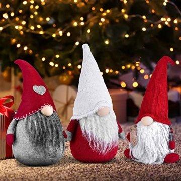 RANSENERS Handgemachte Wichtel Santa Dolls süße Weihnachten Tomte Nisse Figur aus Weihnachtsfigur Dwarf schöneren Weihnachts Deko für Home Schaufenster Kinder Geburtstag Weihnachten. - 4