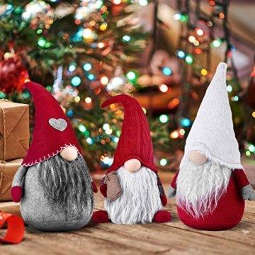 RANSENERS Handgemachte Wichtel Santa Dolls süße Weihnachten Tomte Nisse Figur aus Weihnachtsfigur Dwarf schöneren Weihnachts Deko für Home Schaufenster Kinder Geburtstag Weihnachten. - 5