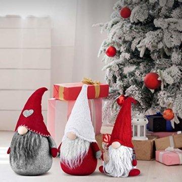 RANSENERS Handgemachte Wichtel Santa Dolls süße Weihnachten Tomte Nisse Figur aus Weihnachtsfigur Dwarf schöneren Weihnachts Deko für Home Schaufenster Kinder Geburtstag Weihnachten. - 6