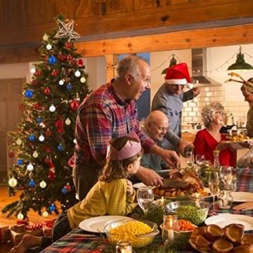 Relaxdays Weihnachtskugeln, 100er Set, Weihnachtsdeko, matt, glänzend, glitzernd, Christbaumkugel ∅ 3, 4 & 6 cm, weiß - 2