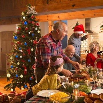 Relaxdays Weihnachtskugeln, 100er Set, Weihnachtsdeko, matt, glänzend, glitzernd, Christbaumkugel ∅ 3, 4 & 6 cm, blau, PS, 7 x 6 x 6 cm - 2