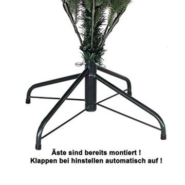 RS Trade HXT 1418 künstlicher PE Spritzguss Weihnachtsbaum 120 cm (Ø ca. 86 cm) mit ca. 1265 Spitzen, schwer entflammbarer Tannenbaum mit Schnellaufbau Klappsysem, inkl. Metall Christbaum Ständer - 3