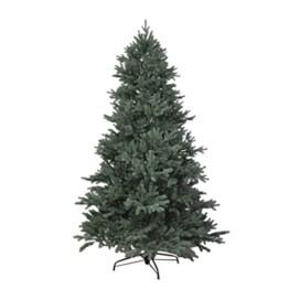 RS Trade HXT 1418 künstlicher PE Spritzguss Weihnachtsbaum 120 cm (Ø ca. 86 cm) mit ca. 1265 Spitzen, schwer entflammbarer Tannenbaum mit Schnellaufbau Klappsysem, inkl. Metall Christbaum Ständer - 1
