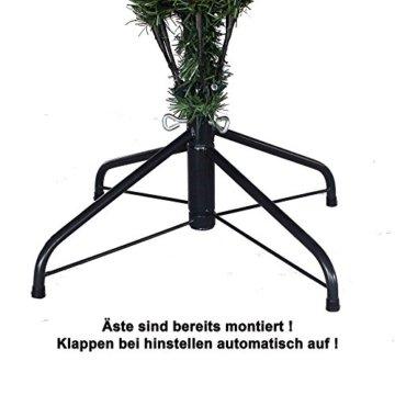 RS Trade HXT 15013 künstlicher Weihnachtsbaum 210 cm mit Schnee und Zapfen (Ø ca. 135 cm) ca. 1400 Spitzen, schwer entflammbarer Tannenbaum mit Schnellaufbau Klappsystem, inkl. Christbaum Ständer - 2