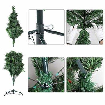 SALCAR Weihnachtsbaum künstlich 150cm mit 408 Spitzen, Tannenbaum künstlich Schnellaufbau inkl. Christbaum-Ständer, Weihnachtsdeko - grün 1,5m - 5