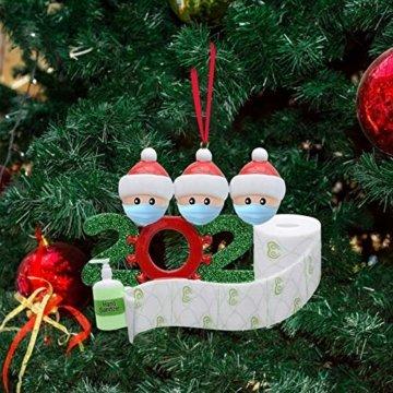 Sallyohno Christbaumschmuck Personalisiert Überlebt Familie Von Ornament 2020 Weihnachten Urlaub Dekorationen Anhänger (B) - 2