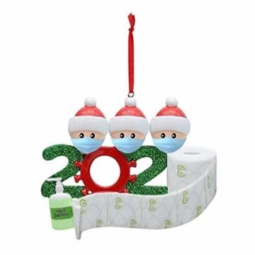 Sallyohno Christbaumschmuck Personalisiert Überlebt Familie Von Ornament 2020 Weihnachten Urlaub Dekorationen Anhänger (B) - 1