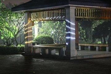 Samoleus 12M 100 LED Lichtschlauch Solar, Wasserdicht IP65 Solar Lichterkette Außen, weihnachtsbeleuchtung Aussen für Party und Weihnachten (Weiß) - 2