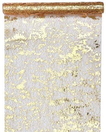 Santex Tischläufer Fantasie, glänzend, Polyester Gold - 1