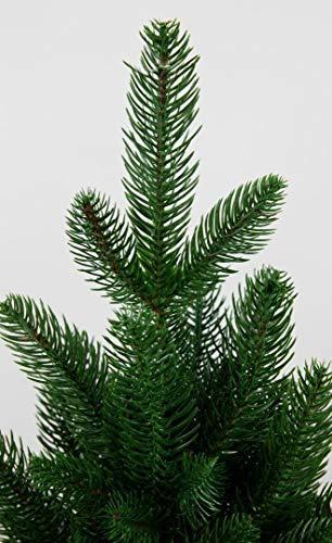 Seidenblumen Roß Nordmanntanne 180cm LS künstlicher Weihnachtsbaum Tannenbaum Kunststanne Kunststoff Spritzguss-Verfahren 100% PE - 5